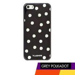 Vlashor - 灰色圆点iPhone5电话手机壳
