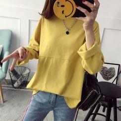 Qimi - Plain Long Sleeve T-Shirt