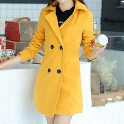 Swish - Double-breasted Woolen Coat