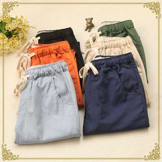 Fairyland - Linen Blend Drawcord Pants