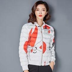 NINETTE - Printed Padded Zip Jacket