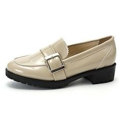 MODELSIS - Buckled-Detail Faux-Leather Loafers
