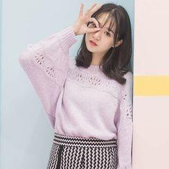 DK Yannie - Open-Knit Sweater