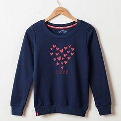 Onoza - Long-Sleeve Heart-Print Top
