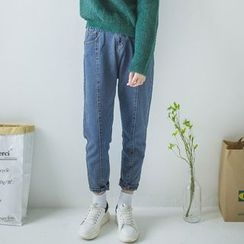 DK Yannie - Seam-Front Slim-Fit Jeans