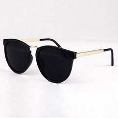 UnaHome Glasses - Metal-Accent Oversized Sunglasses