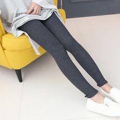 DANI LOVE - Ribbed Plain Leggings