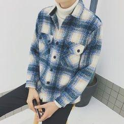 Dubel - Plaid Button Jacket