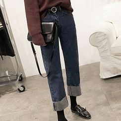 RASA - Cuffed Hem Straight-Cut Jeans