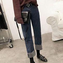 RASA - 翻边下摆直筒牛仔裤