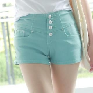 rico - High-Waist Buttoned Shorts