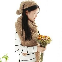 RGLT Scarves - Set: Knit Scarf + Beanie