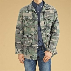 THE COVER - Multi-Pocket Camouflage Cotton Jacket