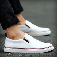 Hipsteria - 撞色系带平底套脚鞋