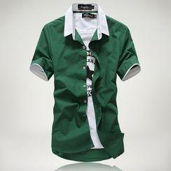 Bay Go Mall - Panel Short-Sleeve Shirt