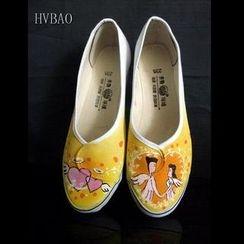 HVBAO - 天使之恋手绘护士鞋