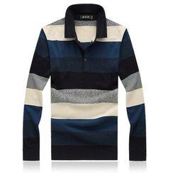 Riverland - 條紋針織馬球衫