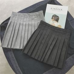 Whitney's Shop - Pleated A-line Skirt