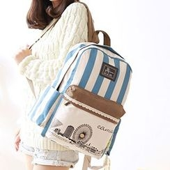 Canvas Love - Striped Canvas Backpack