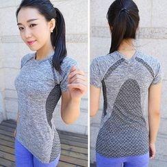 Girasol - 短袖拼接健身T恤