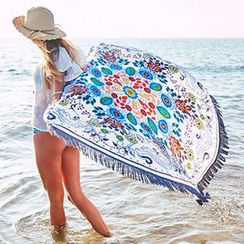 Sunset Hours - Patterned Beach Blanket