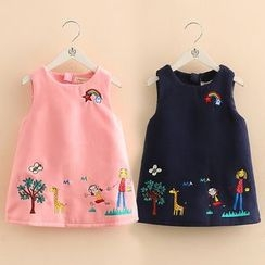 Seashells Kids - Kids Sleeveless A-line Dress