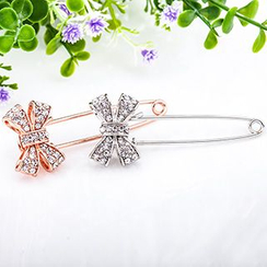 Cheermo - Rhinestone Bow Pin