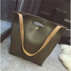 Beloved Bags - 套裝: 仿皮購物袋 + 肩包