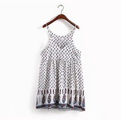 KANAMI - 图案雪纺沙滩裙