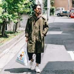 YIDESIMPLE - Hooded Long Jacket