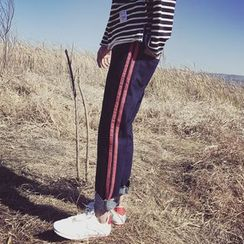 Soulcity - Straight Fit Striped Jeans