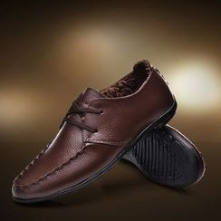 MARTUCCI - Genuine-Leather Lace-Up Loafers