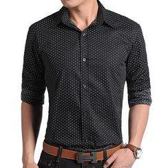 JIBOVILLE - Polka-Dott Printed Long-Sleeve Shirt
