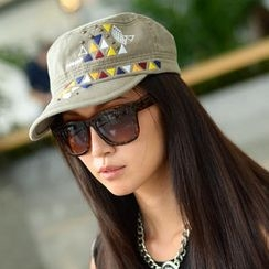 SO Central - Embroidered Studded Military Cap