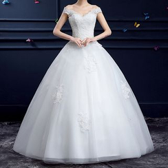 YACCA - Embroidered Off-Shoulder Wedding Ball Gown