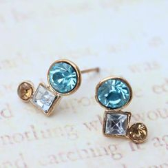 Fit-to-Kill - Exquisite blue Diamond Earrings