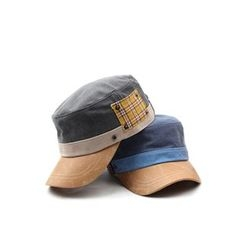 Ohkkage - Plaid Patched Military Cap