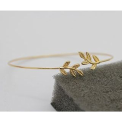 Seirios - Leaf-Accent Bangle
