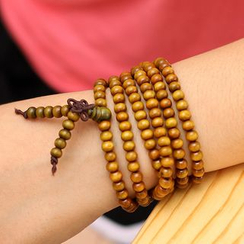 Gold Beam - Layered Wooden Bracelet
