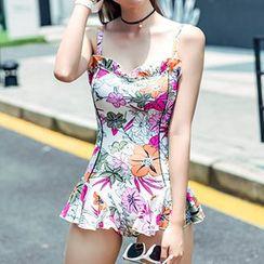 Sweet Splash - Ruffle Floral Swimsuit