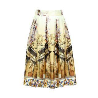 Flore - Printed A-Line Skirt