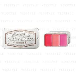 Skinfood - Fresh Fruit Lip and Cheek Trio (#02 Strawberry)