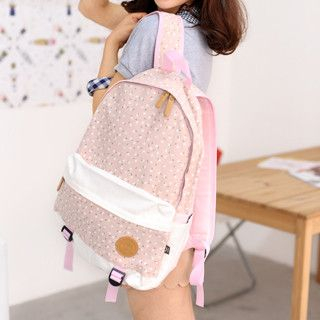 59 Seconds - Floral Canvas Backpack