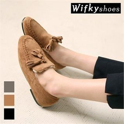 Wifky - Tasseled Faux-Suede Loafers