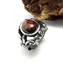 Andante - 宝石钛钢戒指