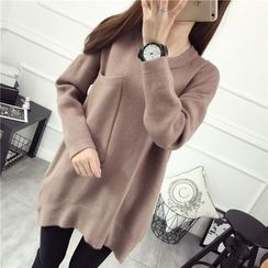 Loytio - Pocketed Long Sweater