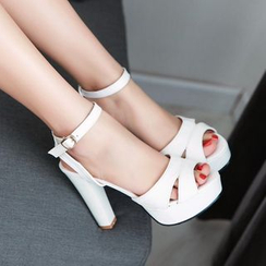 JY Shoes - Ankle Strap High-heel Sandals