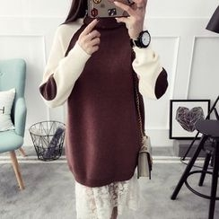 Qimi - Color Block Long Sweater