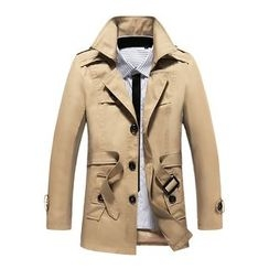 Bay Go Mall - Detachable Hood Trench Coat