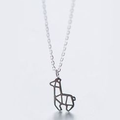 A'ROCH - 925 Sterling Silver Deer Necklace